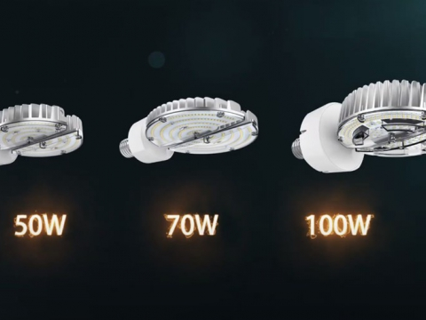 照射角度360度自由なLEDランプ